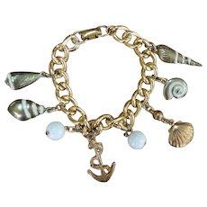 CORO Nautical Charm Bracelet