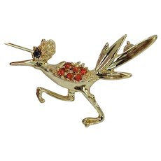 Roadrunner Brooch Pin