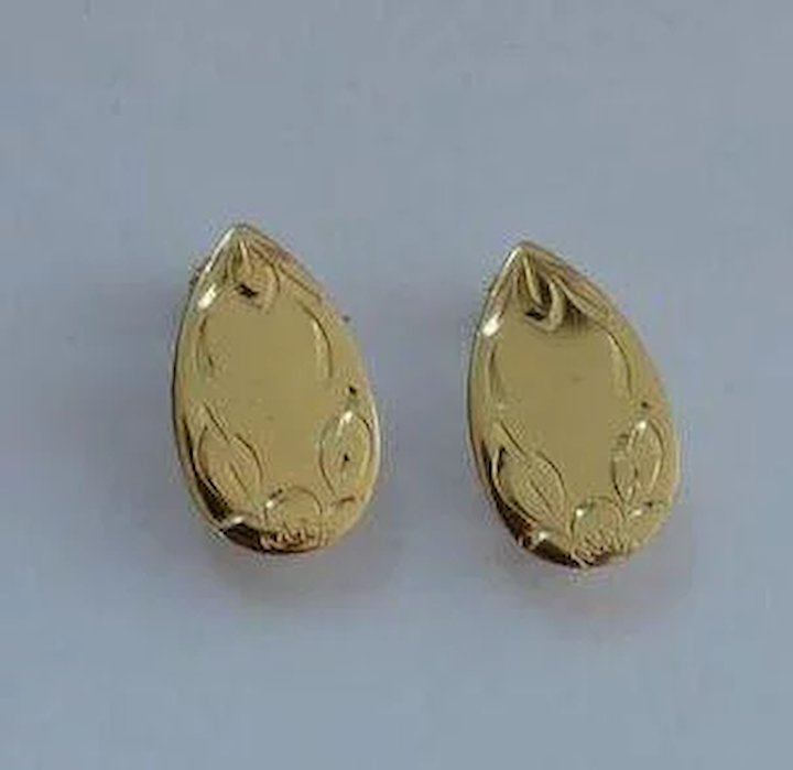 Napier Engravable Earrings