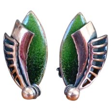 MATISSE Dimensional Enamel and Copper Earrings