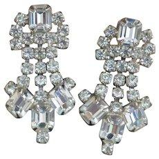 Vintage Rhinestone Diva Dangle Earrings