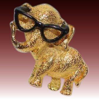 Bespeckled Elephant Brooch Pin
