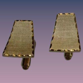 Etched Gold Tone Cufflinks
