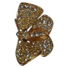 Joan Rivers Trembler Butterfly Brooch Pin