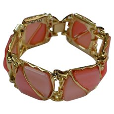 Two Tone Pink Thermoset Bracelet