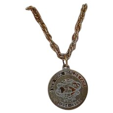 1964 World's Fair Medallion Sweater Brooch Pin