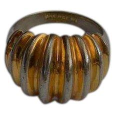 Modernist Rose Gold Electroplate Ring