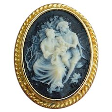 Faux Vintage Cameo Brooch Pin