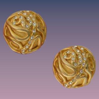 NORMA JEAN Celestial Domed Earrings