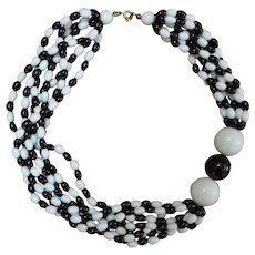 Black and White Mod Necklace