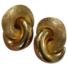 CHRISTIAN Dior Interlocking Circles Earrings