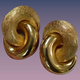 CHRISTIAN Dior Interlocking Circles Earrings