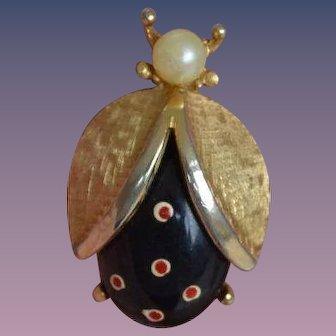Vintage Winged Bug Brooch Pin