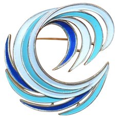 TRIFARI Color Swirl Brooch Pin