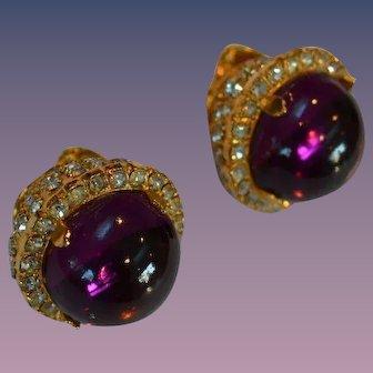 Wm de Lillo Large Cabochon Earrings