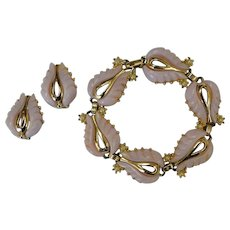 Vintage Thermoset Bracelet and Earrings Set
