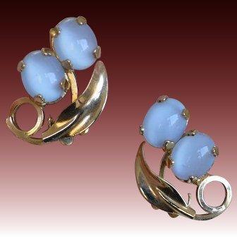 Luminous Faux Moonstone Earrings