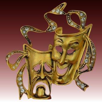 Bob MACKIE Comedy-Tragedy Brooch Pin