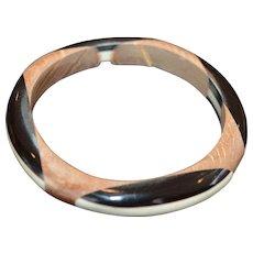 Wood and Resin Bangle Bracelet