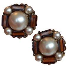 MARVELLA Faux Pearl and Bead Earrings