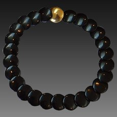 TRIFARI Black Disc Necklace
