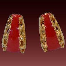 ST.JOHN Enamel Earrings