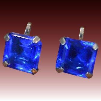 Cobalt Blue Large Stone Earrings