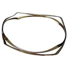 Modernist Bangle Bracelet
