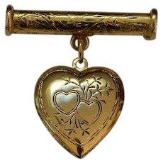 Sweetheart Locket Brooch Pin