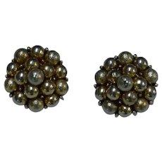 KRAMER Beaded Domed Earrings