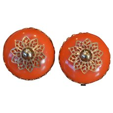 Exotic Domed Earrings