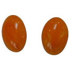 Plastic '60's Oval Earrings