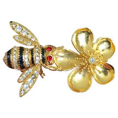 MMA Faberge Bee and Flower Brooch Pin