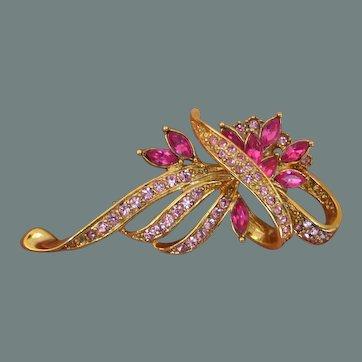 Pink Profusion Brooch Pin