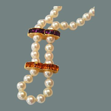 KJL Rhinestone Necklace 'Huggie' Clips