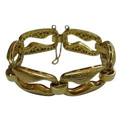 UnoAErre 18 KT Gold Large Link Bracelet