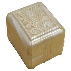 Art Deco Celluloid Presentation Ring Box