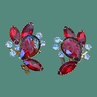Beaujewels Carved Rhinestone Earrings