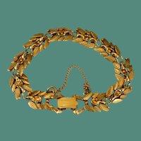 FLORENZA Bright Bundles of Leaves Bracelet