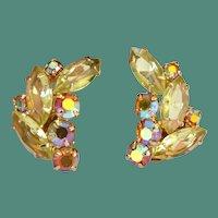 Lemon Lime Rhinestone Earrings