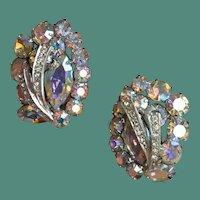 WEISS Showy Crystal Earrings
