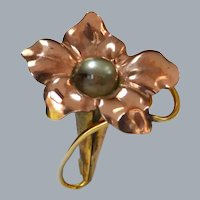 Gold Filled Tiny Flower Watch Brooch Pin
