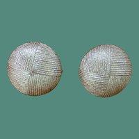 TRIFARI Silver Tone Button Earrings