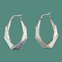 SILVER Boho Hoop Earrings