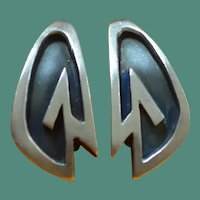 LEWITTES Mid Century Modern Sterling Earrings