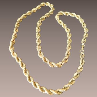 Braided Gold Tone NAPIER Necklace