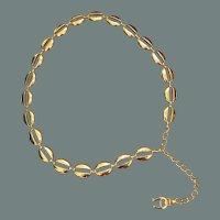 Vintage Etienne Aigner Metal Link Belt
