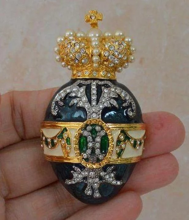 rare crowned brooch framed title the centred petersburg faberg faberge a of by form and st wreath pin karl brown in imperial date diamond russia carl with cut eagle gold
