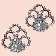 Pair Made in France Rhinestone Shoe Clips