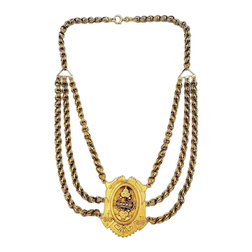 """10 - 14k Gold Victorian 15"""" Choker Necklace Locket with Seed Pearls"""